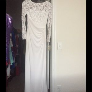 White Lace Ralph Lauren Evening Gown